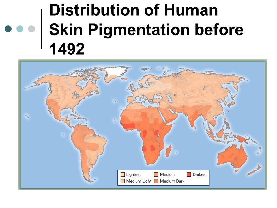Distribution of Human Skin Pigmentation before 1492
