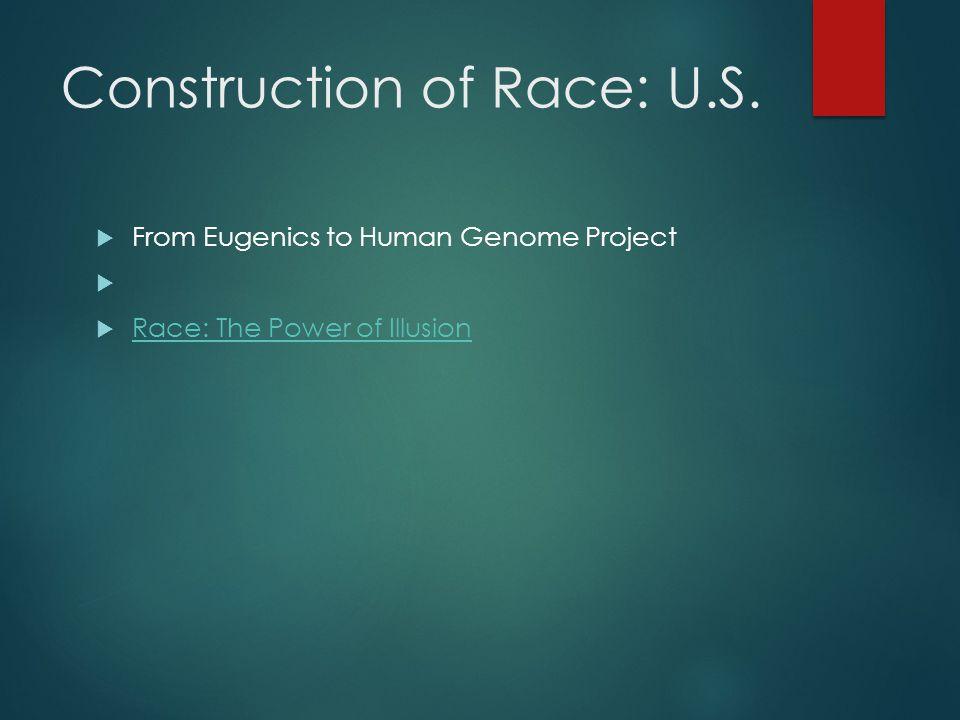 Construction of Race: U.S.
