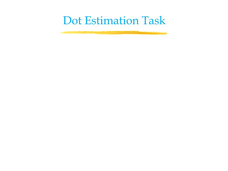 Dot Estimation Task