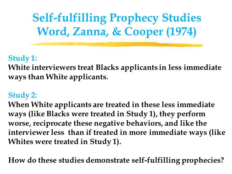 Study 1: White interviewers treat Blacks applicants in less immediate ways than White applicants.