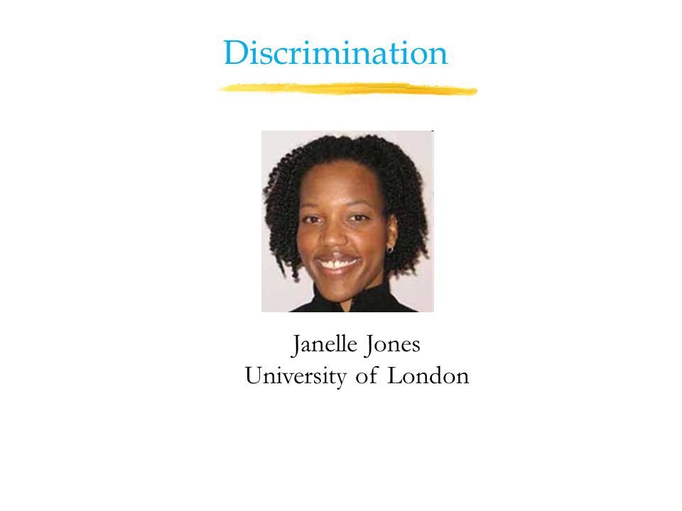 Janelle Jones University of London