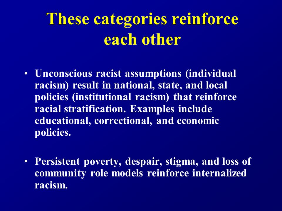 Context matters Poverty, segregation, and racism do not operate in isolation from each other.