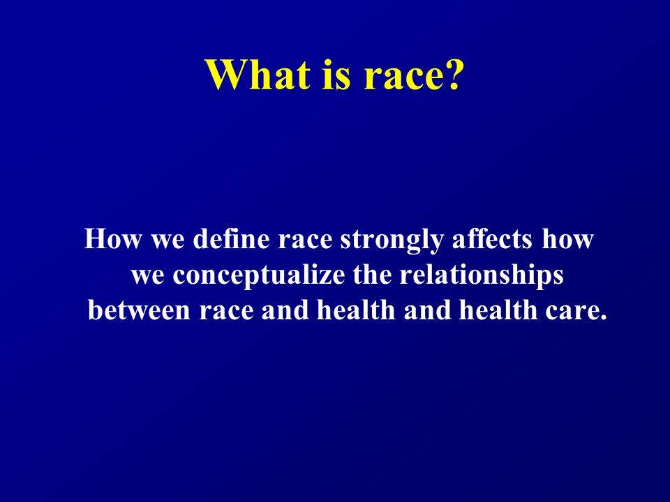 What is race.