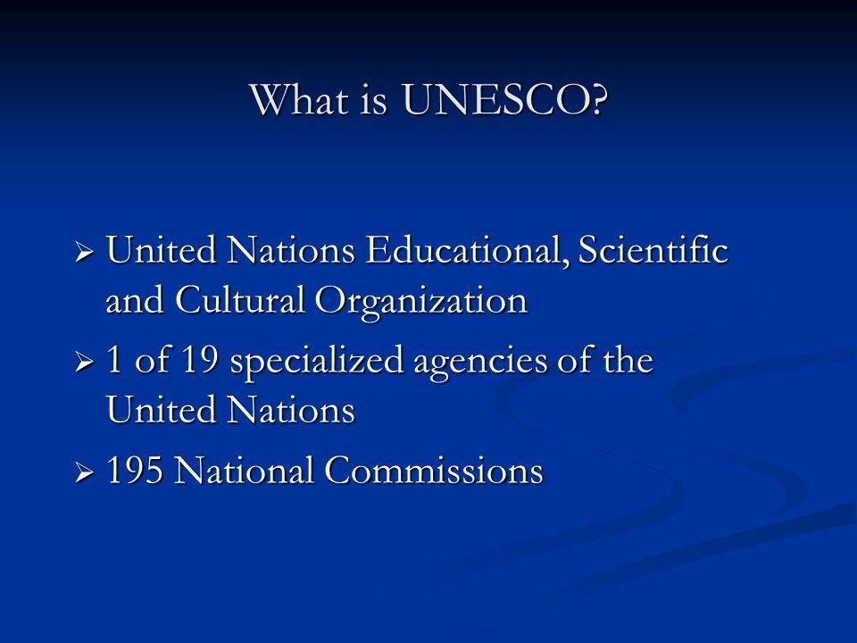 What is UNESCO.