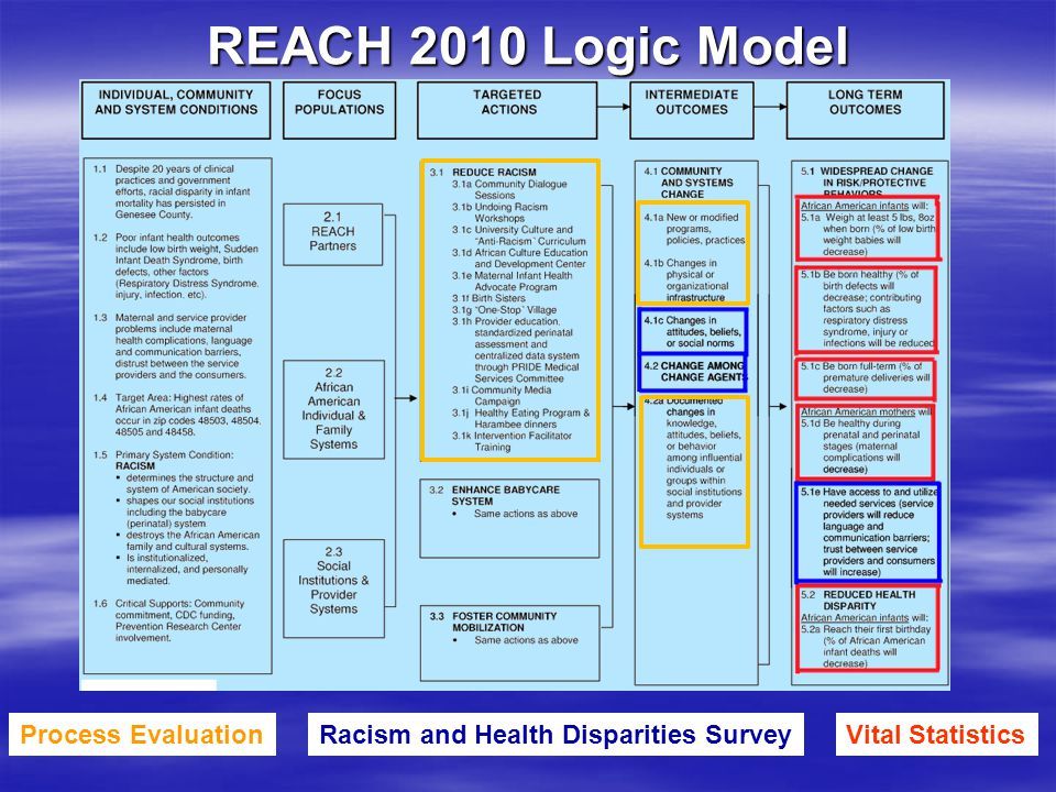 Vital StatisticsRacism and Health Disparities SurveyProcess Evaluation