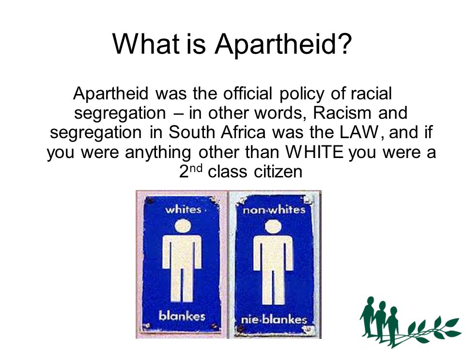 What is Apartheid.