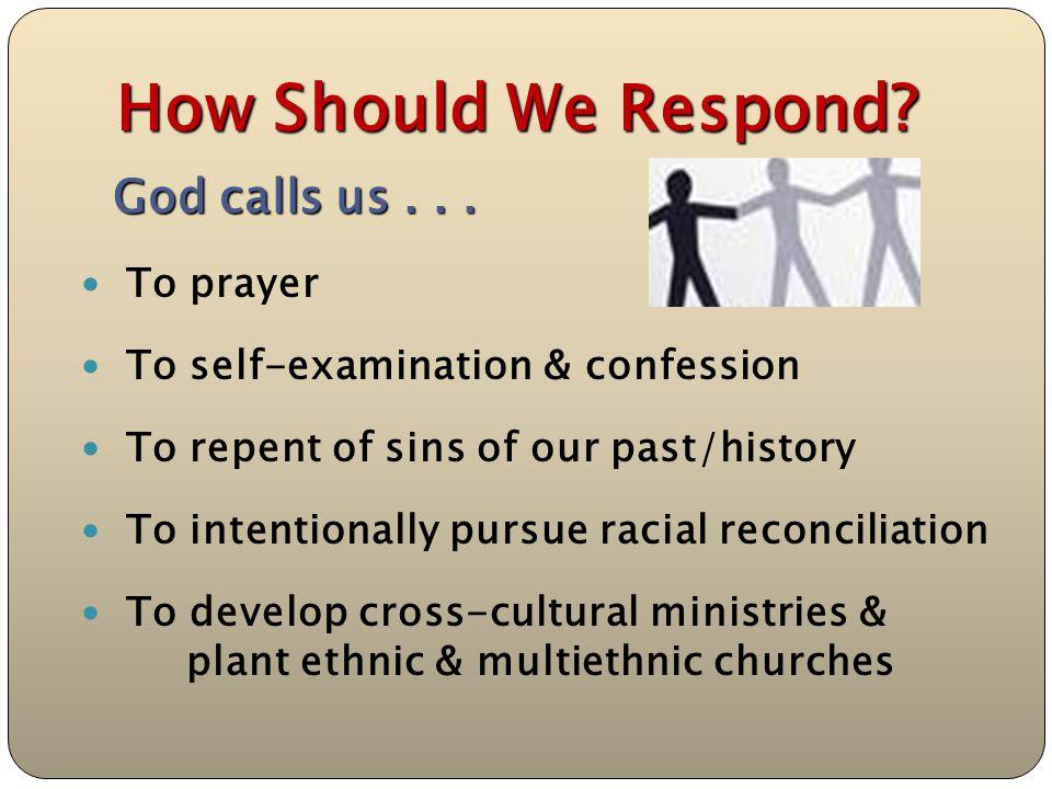 How Should We Respond. God calls us...