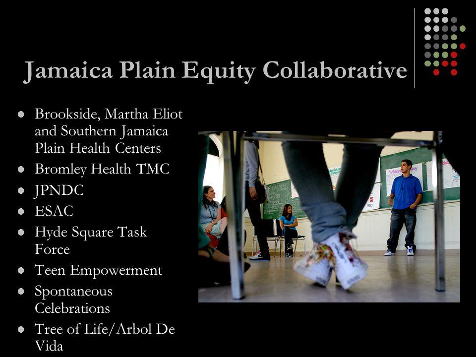 Jamaica Plain Equity Collaborative Brookside, Martha Eliot and Southern Jamaica Plain Health Centers Bromley Health TMC JPNDC ESAC Hyde Square Task Fo