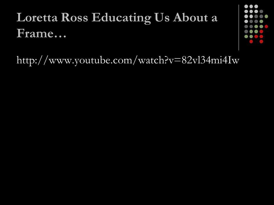 Loretta Ross Educating Us About a Frame… http://www.youtube.com/watch?v=82vl34mi4Iw