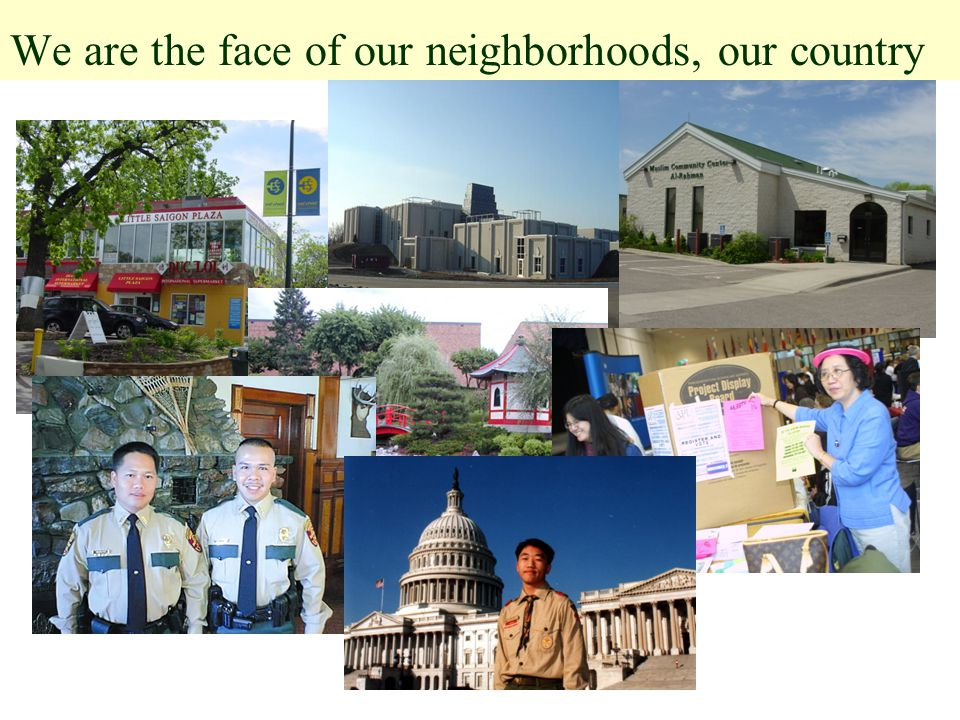 We are the face of our neighborhoods, our country