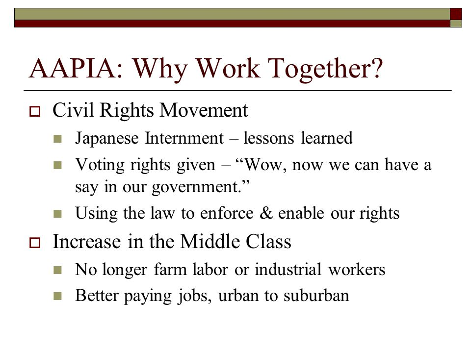 AAPIA: Why Work Together.