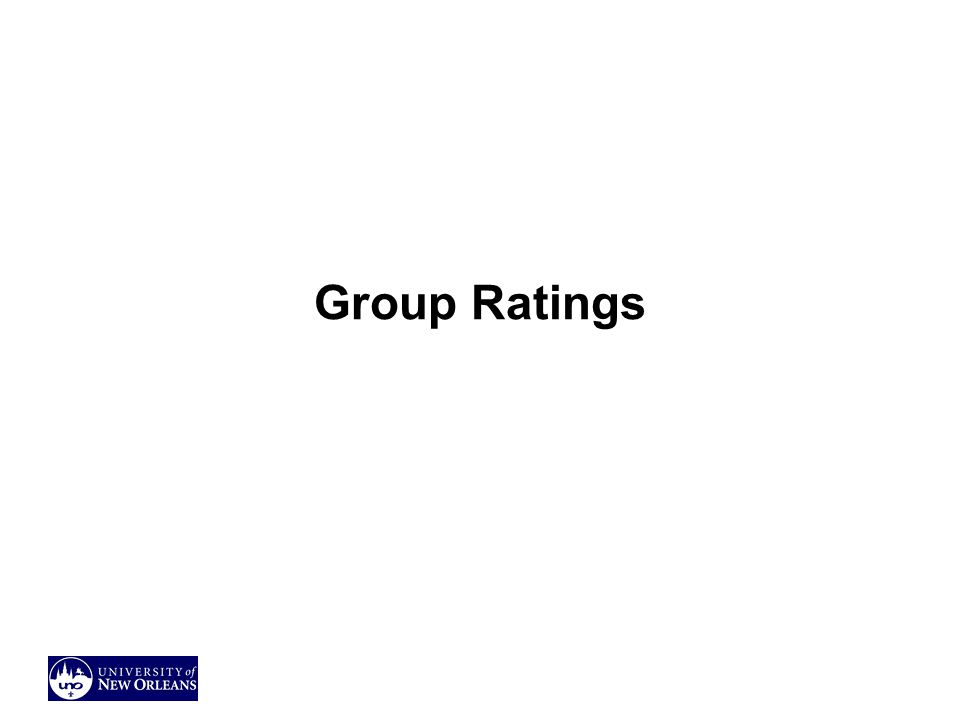 Group Ratings