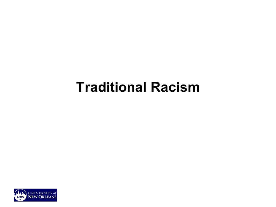 Traditional Racism