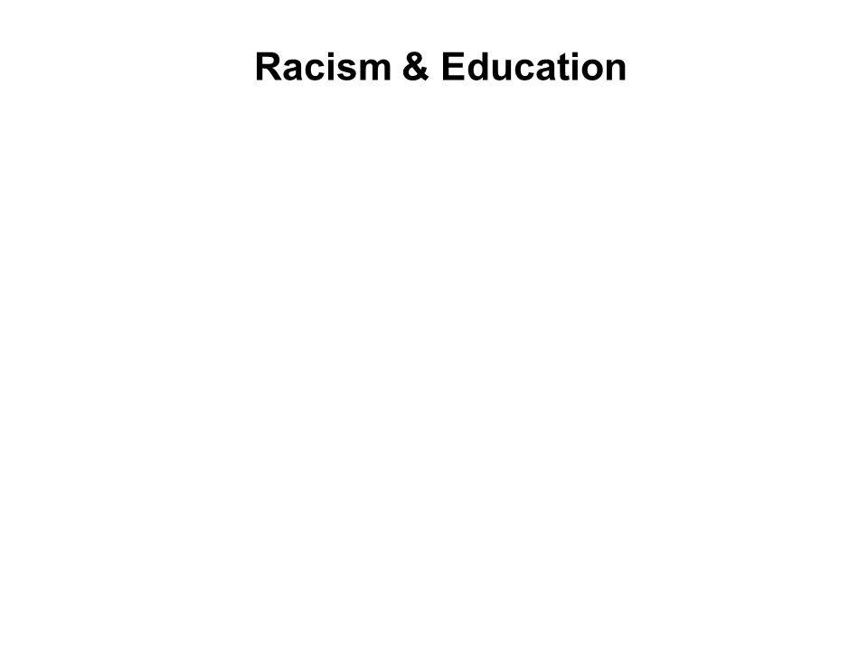 Racism & Education