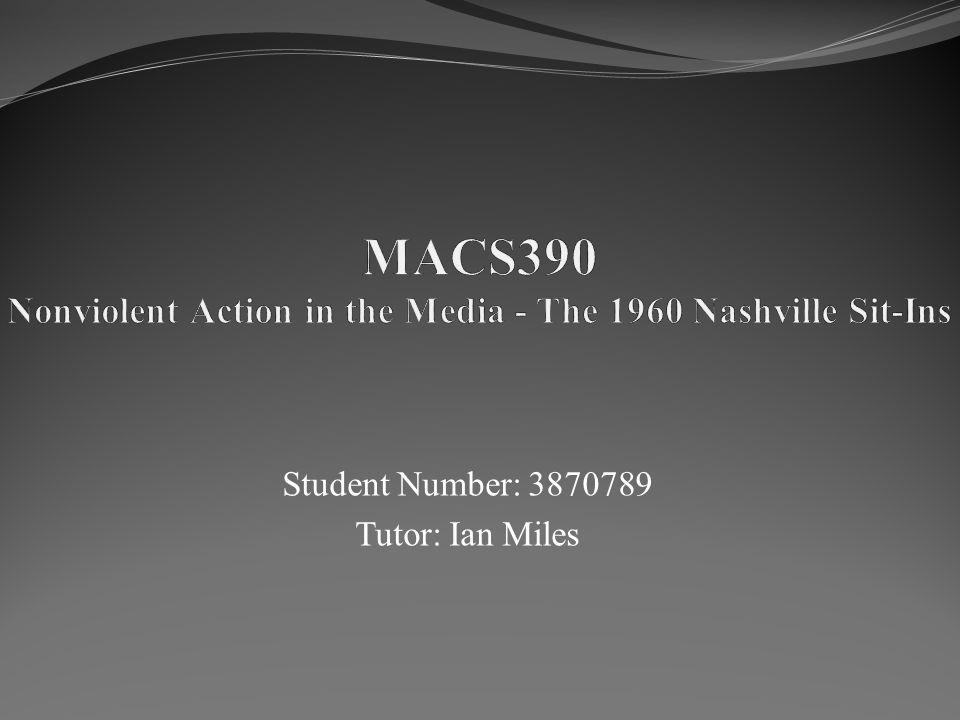 Student Number: 3870789 Tutor: Ian Miles