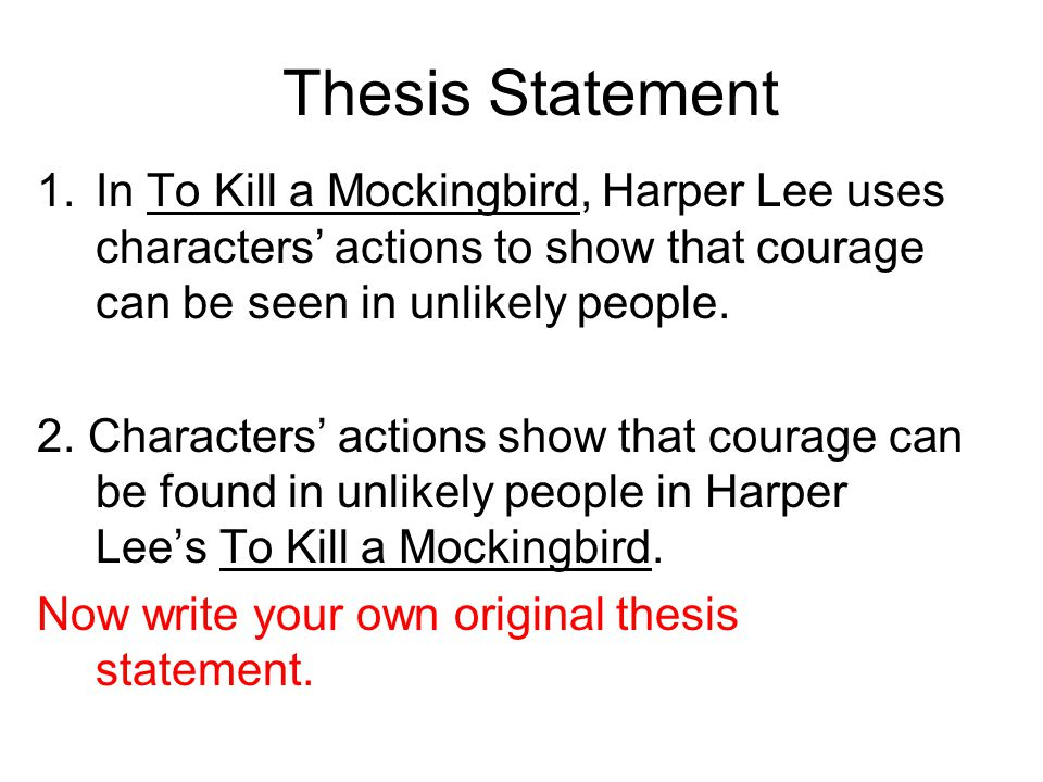 thesis statement about racism in to kill a mockingbird
