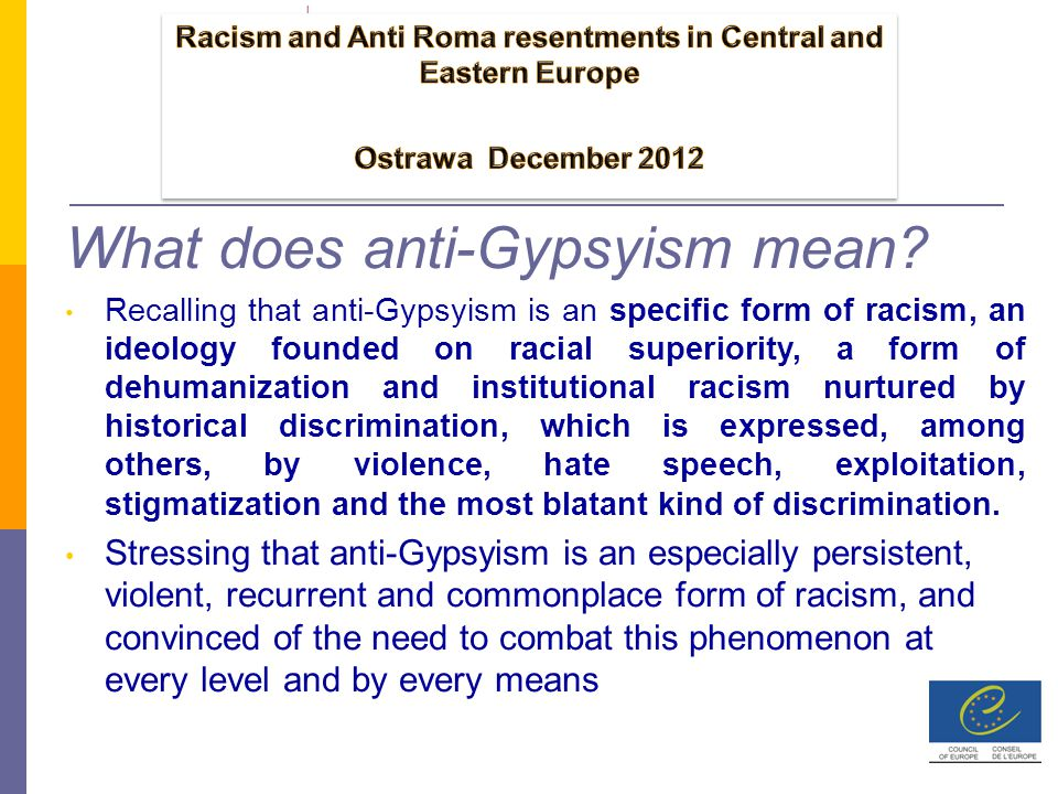 What does anti-Gypsyism mean.