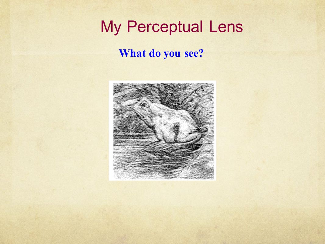 My Perceptual Lens Quickly mentally add these numbers in your head: