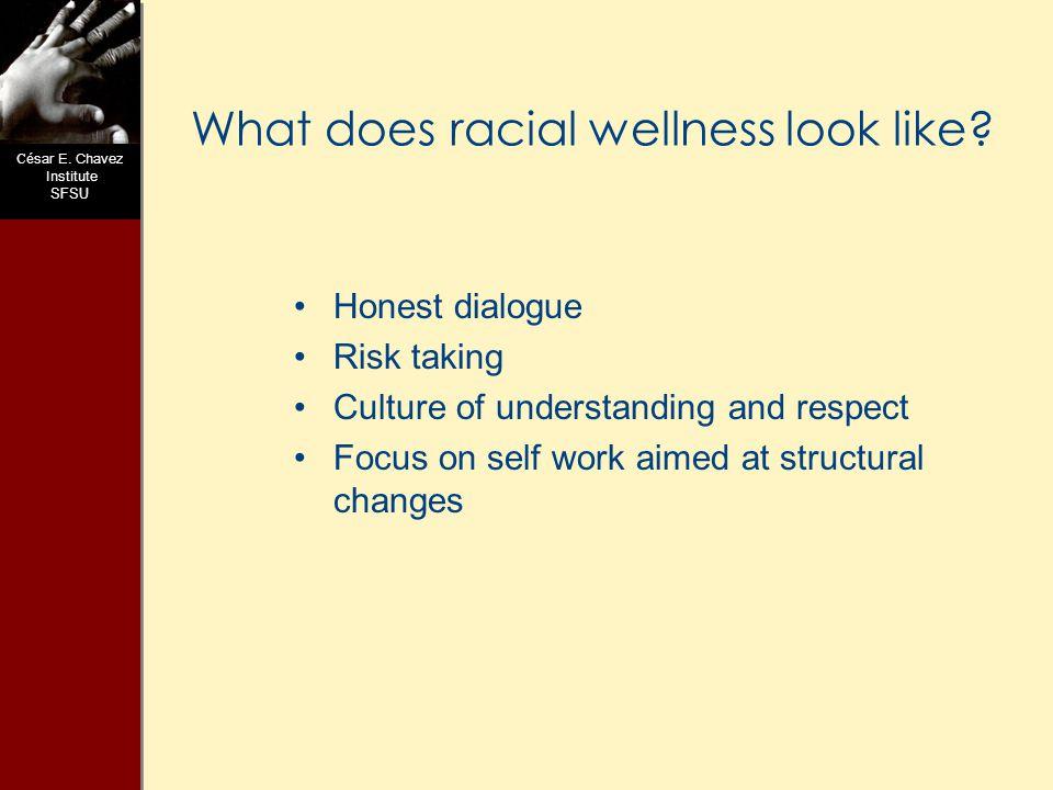 C ésar E.Chavez Institute SFSU Is Race Real. What is Race.