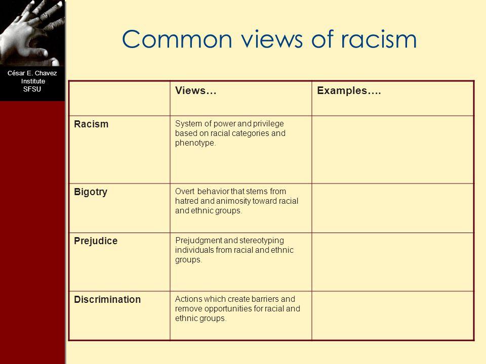 C ésar E.Chavez Institute SFSU What is Racism.