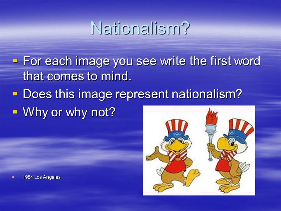 Is this example of nationalism different than…