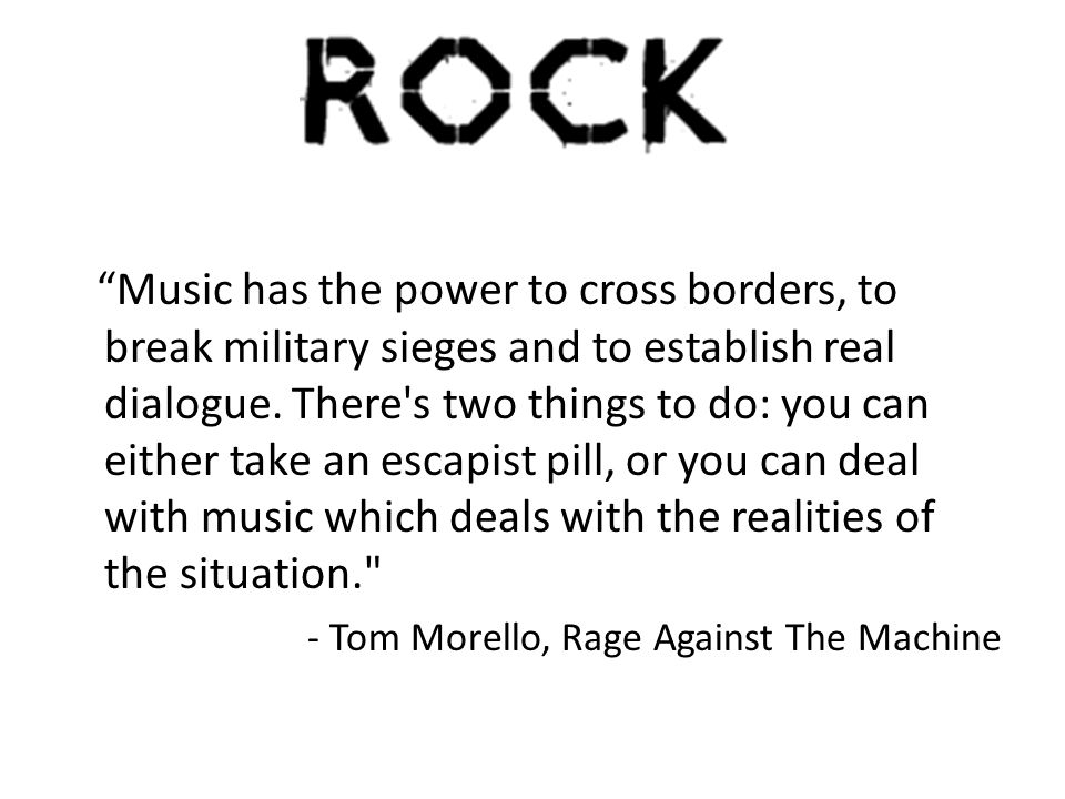 Music has the power to cross borders, to break military sieges and to establish real dialogue.