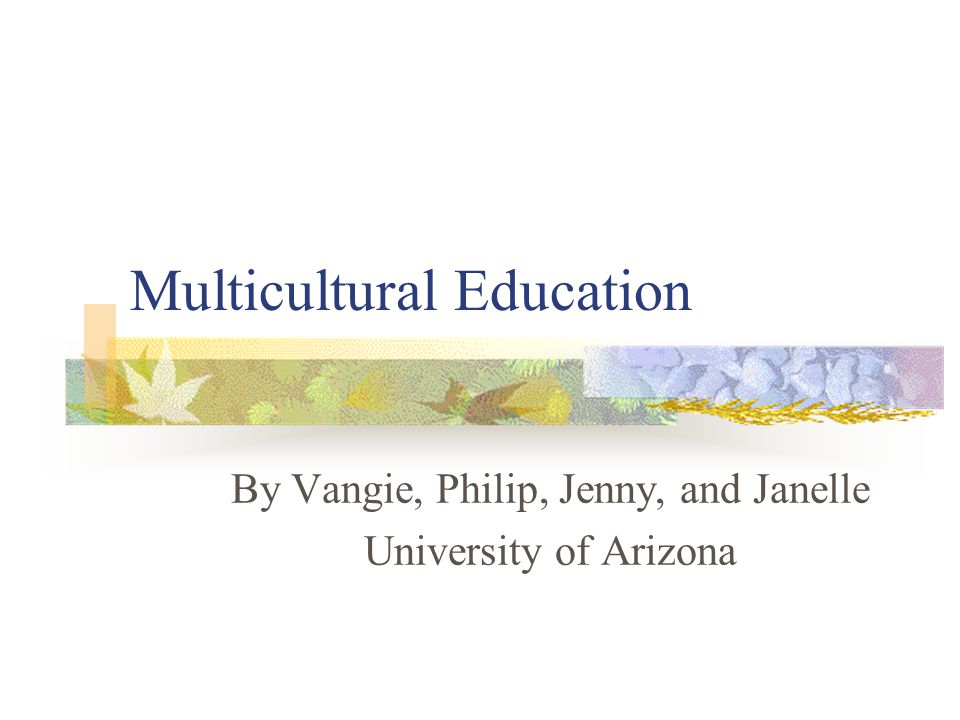 Why do we need multicultural education.