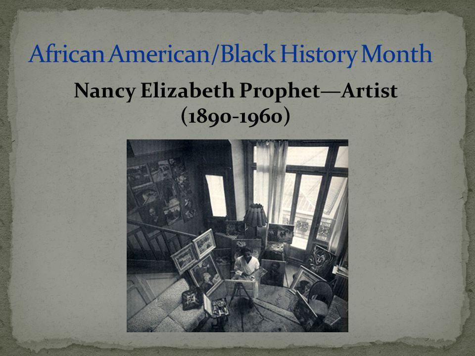Nancy Elizabeth Prophet—Artist (1890-1960)