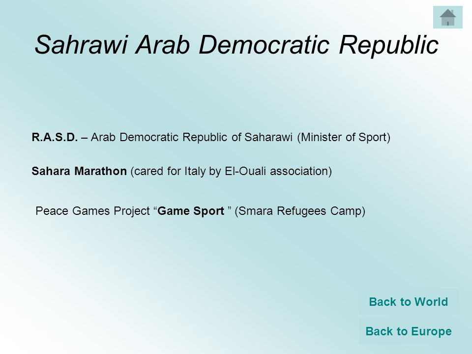 Sahrawi Arab Democratic Republic R.A.S.D.