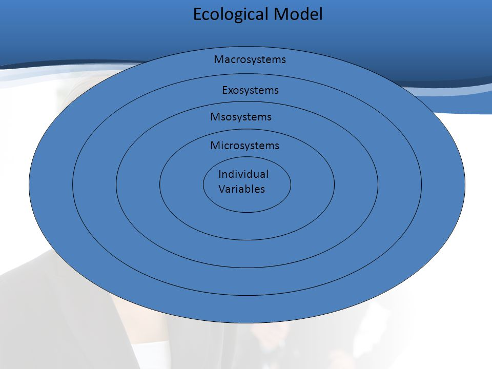 Individual Variables Microsystems Msosystems Exosystems Macrosystems Ecological Model