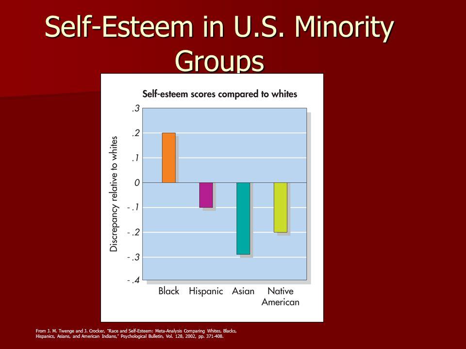 "Self-Esteem in U.S. Minority Groups From J. M. Twenge and J. Crocker, ""Race and Self-Esteem: Meta-Analysis Comparing Whites, Blacks, Hispanics, Asians"