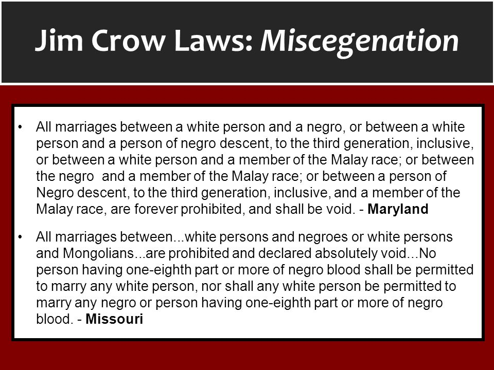 All marriages between a white person and a negro, or between a white person and a person of negro descent, to the third generation, inclusive, or betw
