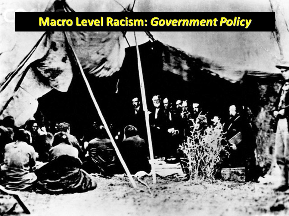 Macro Level Racism: Government Policy
