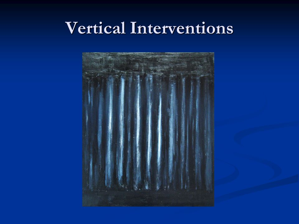 Vertical Interventions