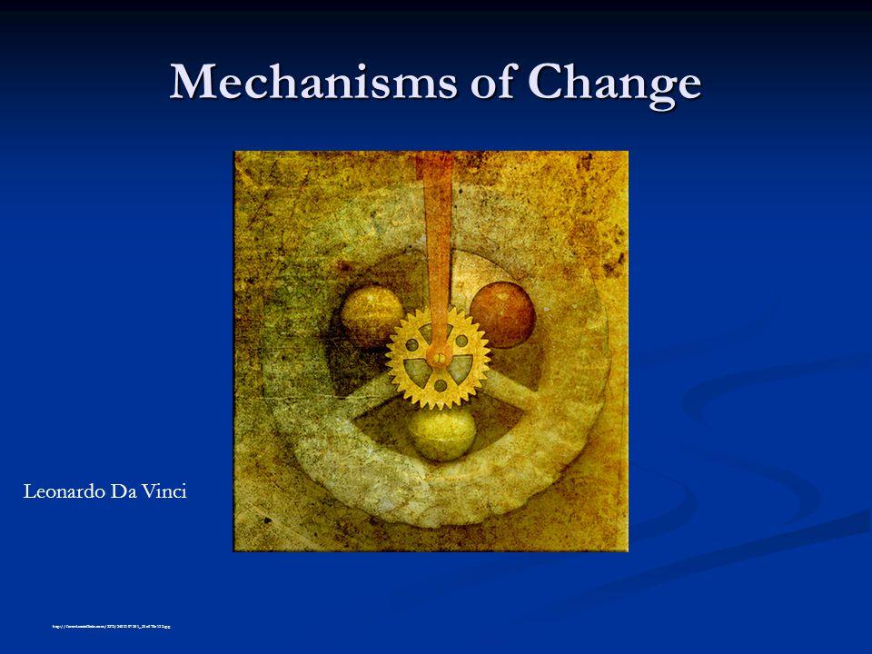 Mechanisms of Change http://farm4.staticflickr.com/3575/3403107361_55a670e132.jpg Leonardo Da Vinci