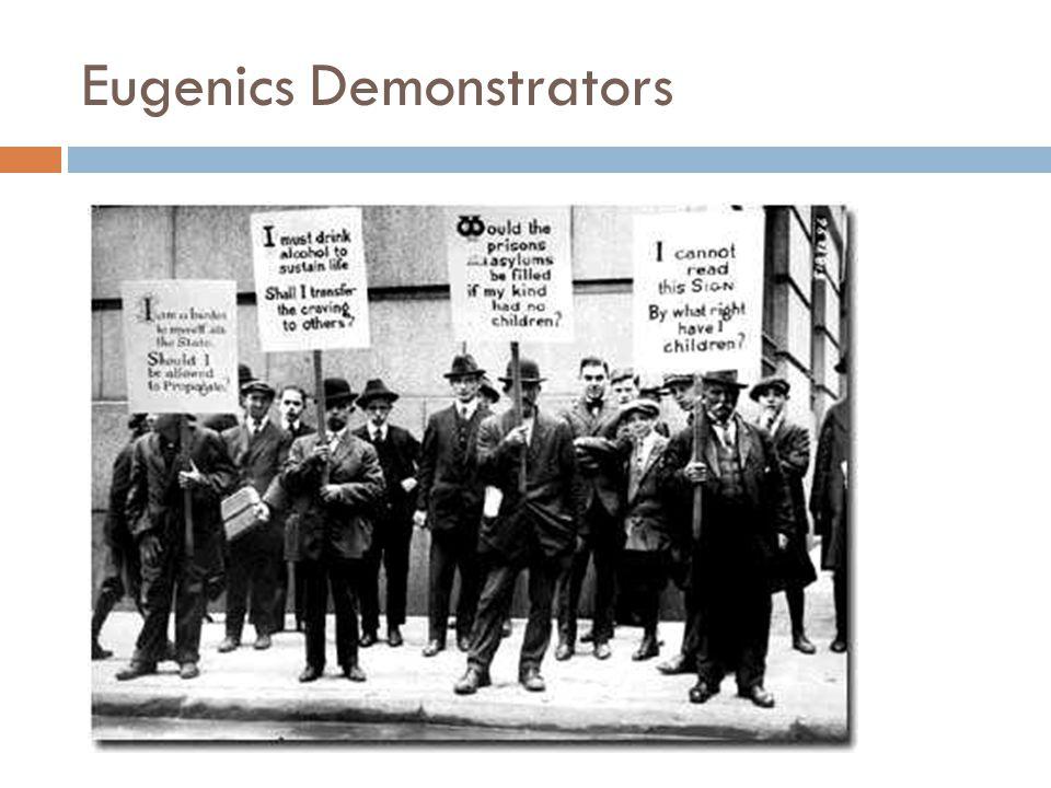 Eugenics Demonstrators
