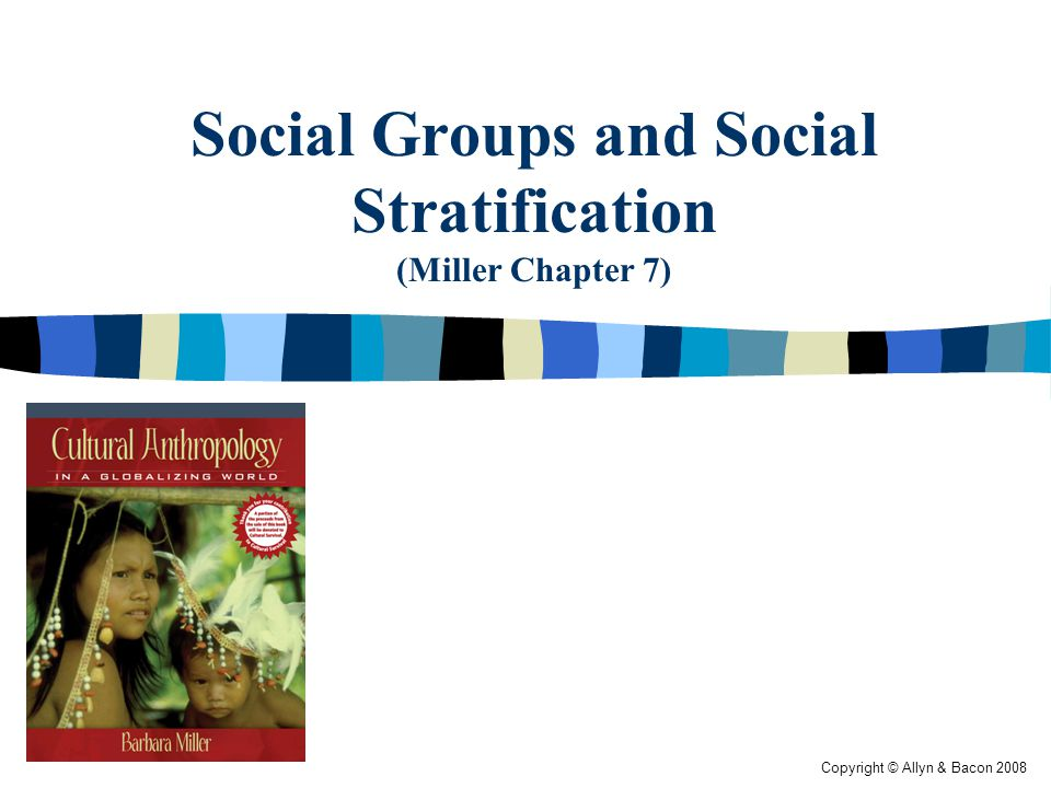 Copyright © Allyn & Bacon 2008 Social Groups and Social Stratification (Miller Chapter 7)
