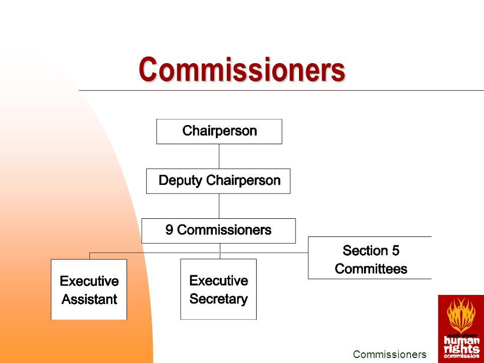 Commissioners Commissioners