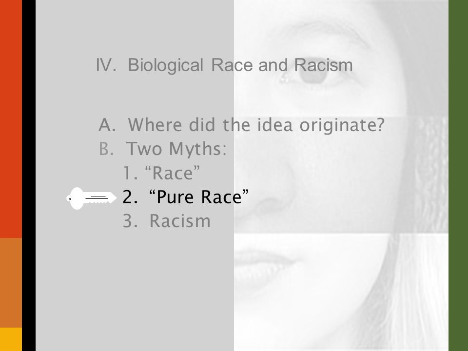 IV. Biological Race and Racism A. Where did the idea originate.