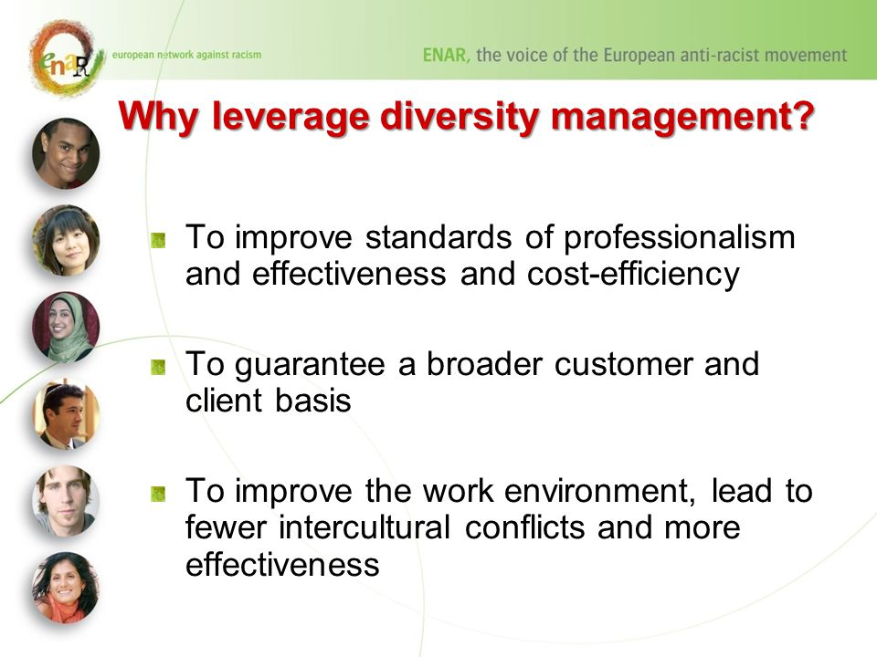 Why leverage diversity management.