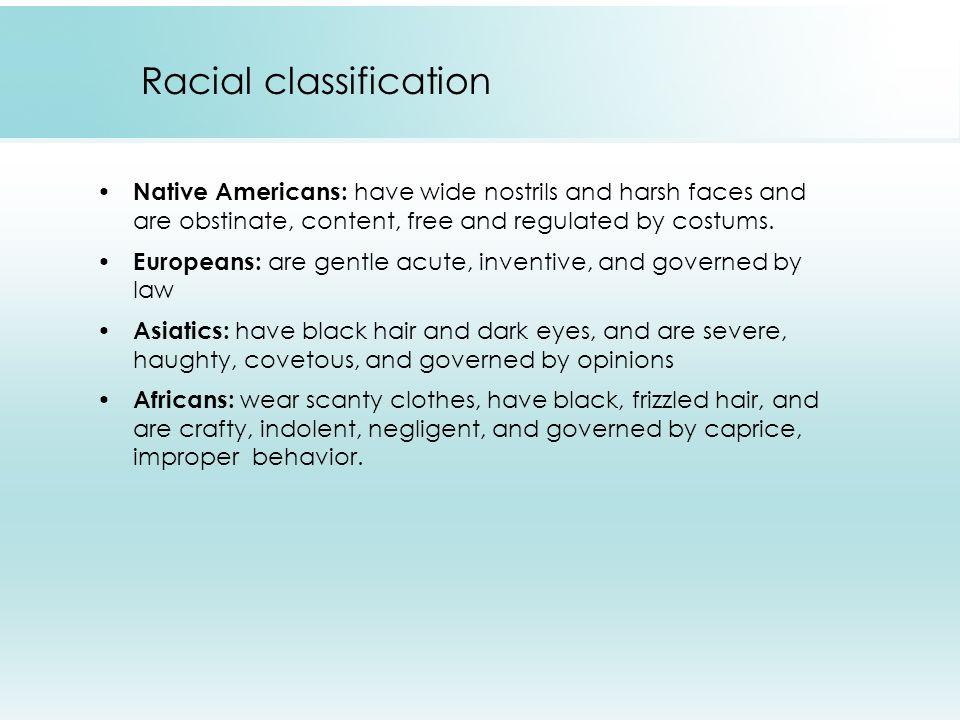 Carl von Linné's racial classification