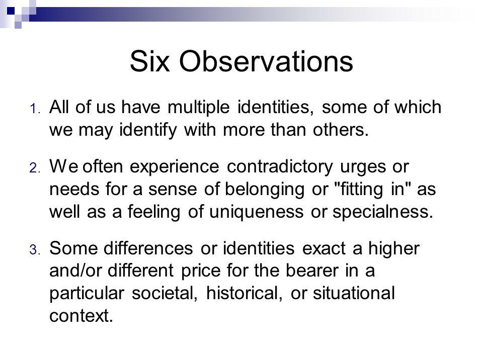 Six Observations 1.