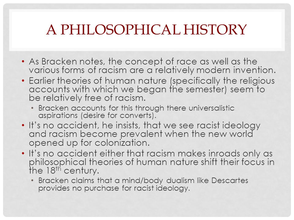 JOHN LOCKE Particularly important in this shift, according to Bracken, is the theory of human nature offered by John Locke (an early empiricist, predecessor of Berkeley and Hume).
