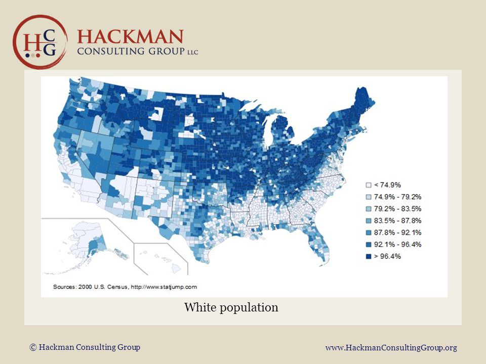 © Hackman Consulting Group www.HackmanConsultingGroup.org White population