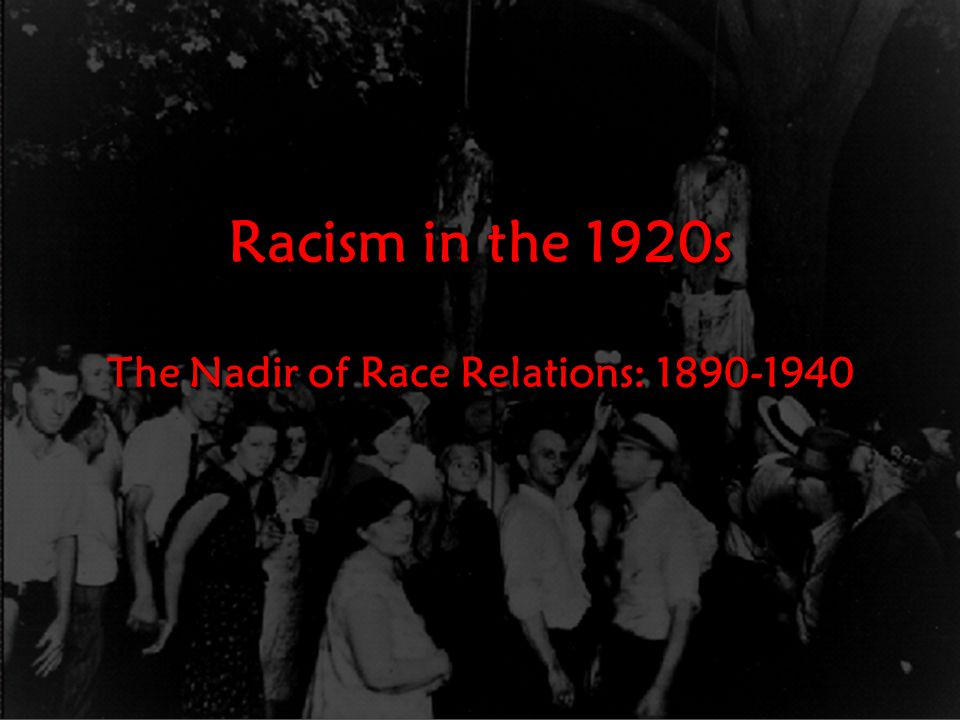 Learning Targets I can explain what caused race relations to change from 1890-1920s.I can explain what caused race relations to change from 1890-1920s.