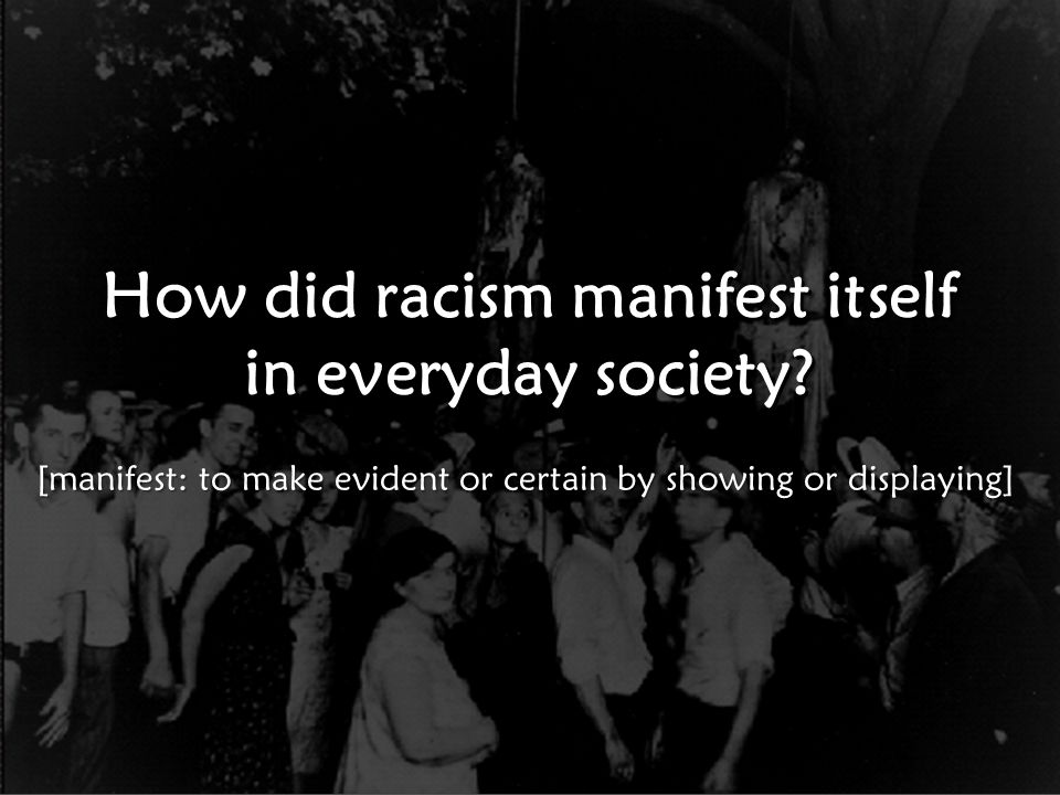 Race Relations in the 1920s WORST TIME EVER for race relations since the abolition of slavery.
