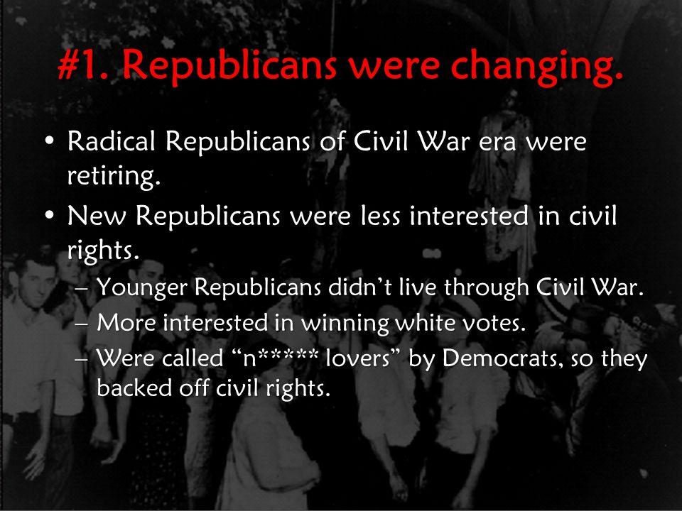 #2.Supreme Court undermines civil rights.