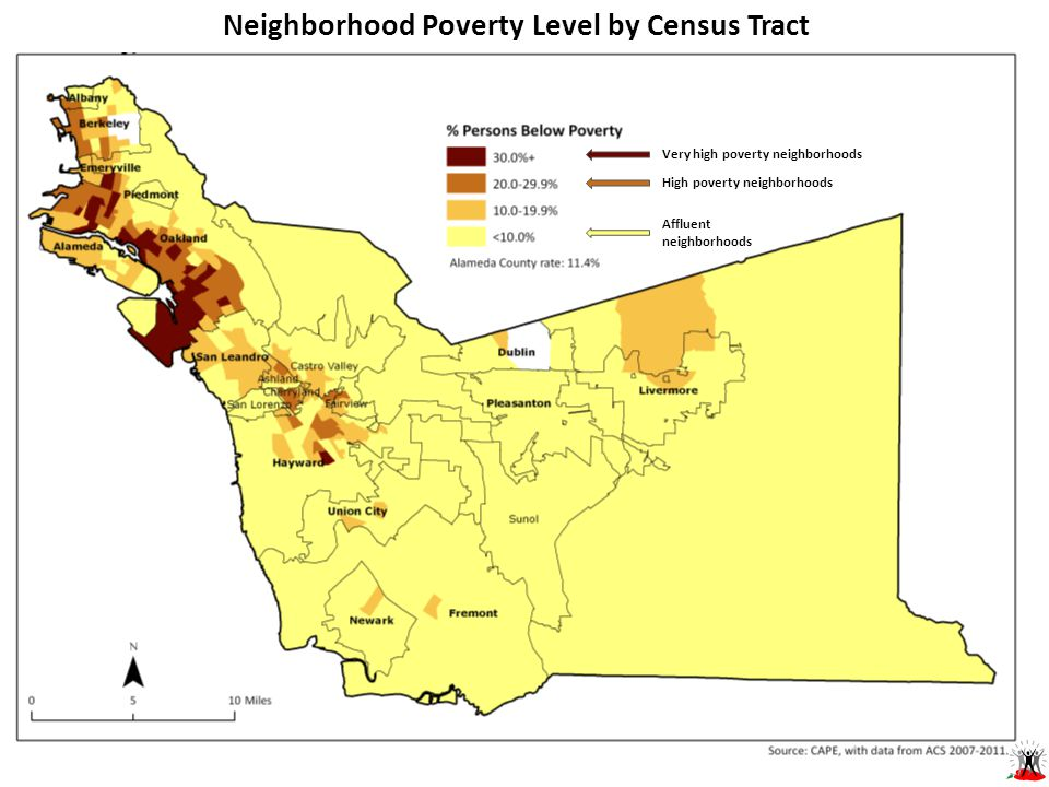 Neighborhood Poverty Level by Census Tract Very high poverty neighborhoods High poverty neighborhoods Affluent neighborhoods