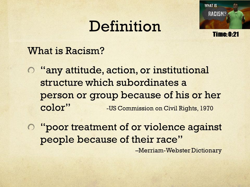 Definition What is Racism.