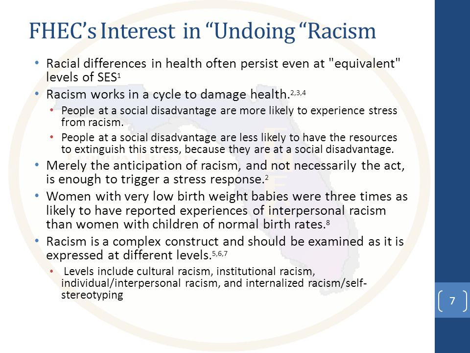 References 1.Williams, D.R. (1999). Race, socioeconomic status, and health.